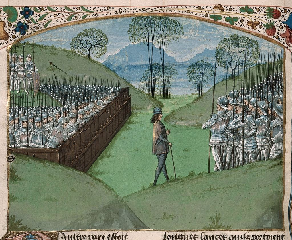 Saxon stockade from BL Royal 15 E IV, f. 231v
