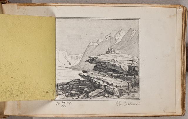Schets: rotsachtig landschap / door Th. Calkoen
