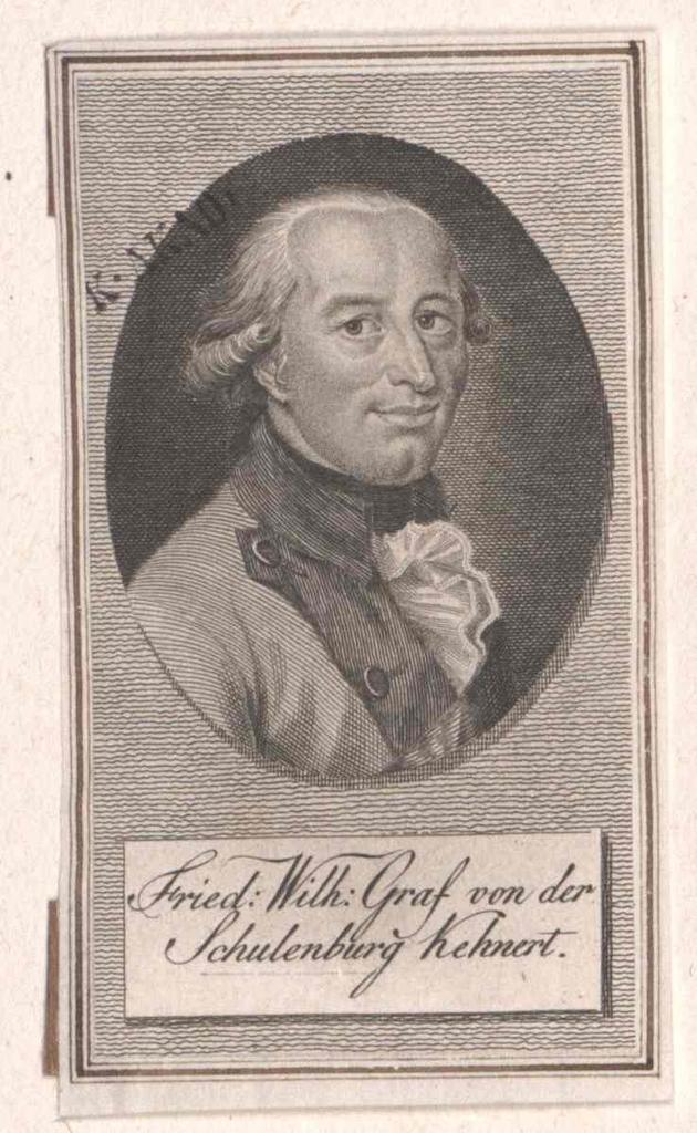 Schulenburg-Kehnert, Friedrich Wilhelm Graf von der