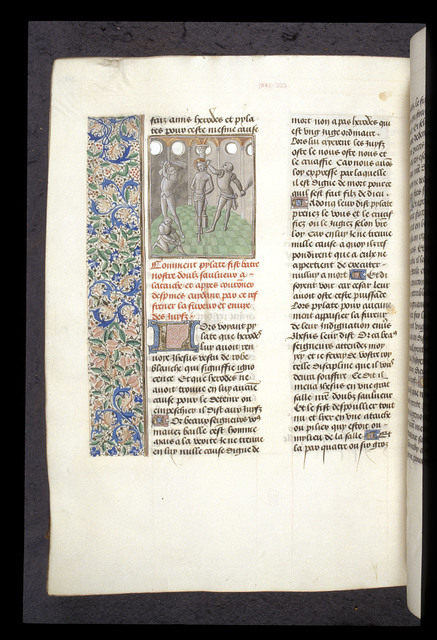 Scourging of Christ from BL Royal 15 D I, f. 348v