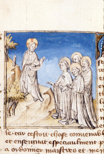 Sermon on the Mount from BL Royal 20 B IV, f. 58