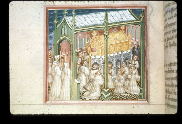 Shrine of Edmund from BL Harley 2278, f. 100v