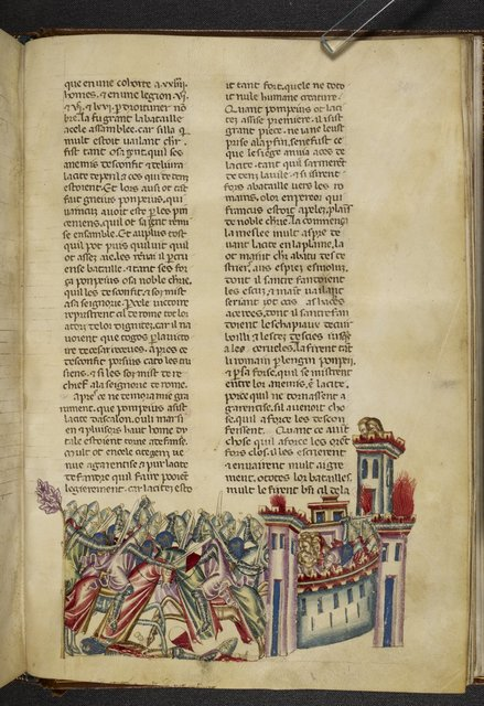Siege of Asculum from BL Royal 20 D I, f. 341