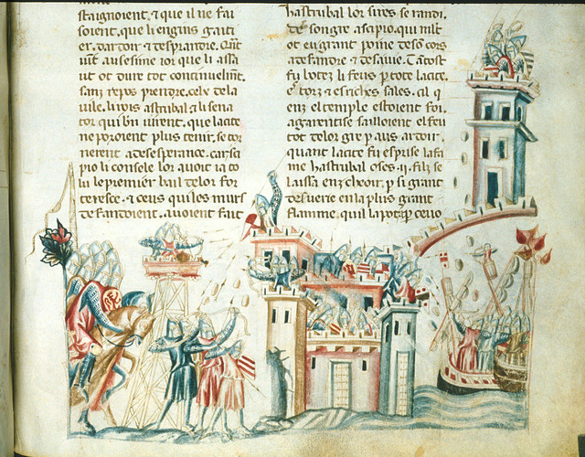 Siege of Carthage from BL Royal 20 D I, f. 306