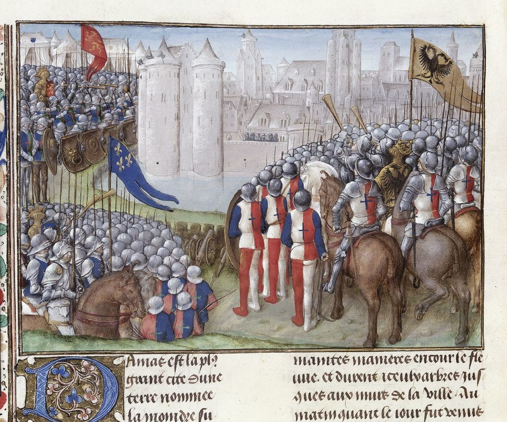 Siege of Damascus from BL Royal 15 E I, f. 280v