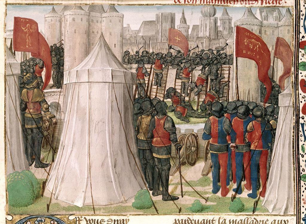 Siege of Jerusalem from BL Royal 15 E I, f. 438