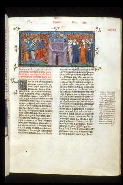 Siege of Laon from BL Royal 16 G VI, f. 120