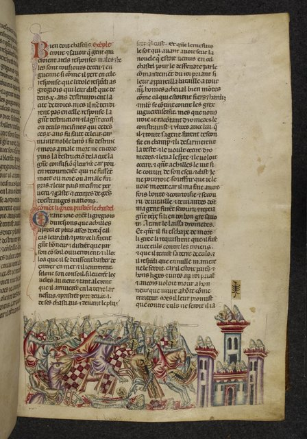 Siege of Lyrnessus from BL Royal 20 D I, f. 60
