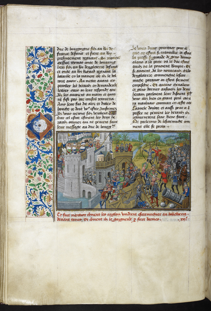 Siege of Troyes from BL Royal 14 E IV, f. 59v