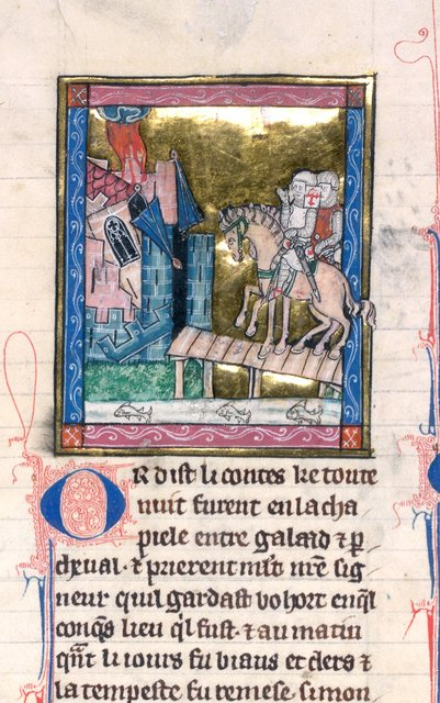Sir Galahad from BL Royal 14 E III, f. 133v