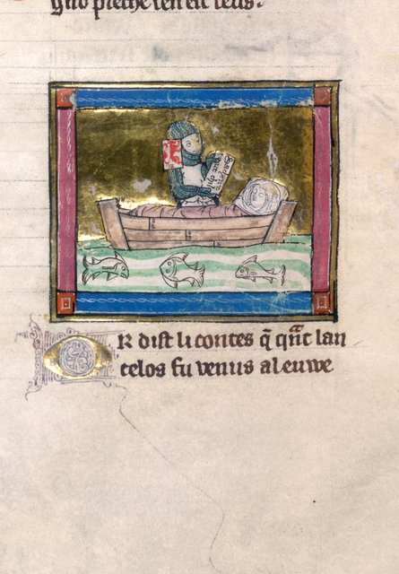 Sir Lancelot from BL Royal 14 E III, f. 133v