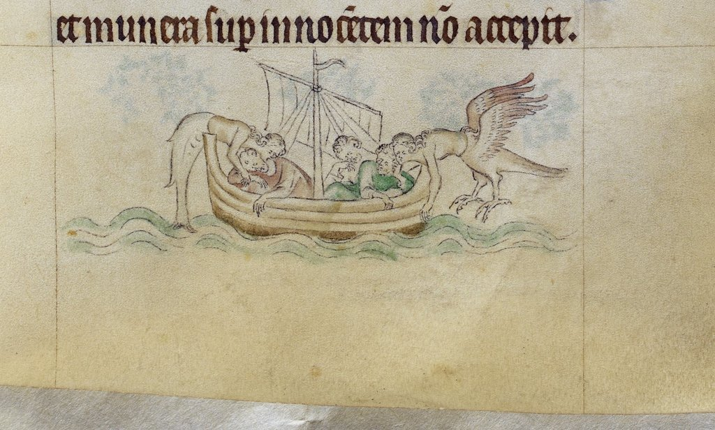 Sirens from BL Royal 2 B VII, f. 97