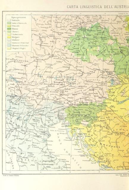 """Slovenia from """"La Terra, trattato popolare di geografia universale per G. Marinelli ed altri scienziati italiani, etc. [With illustrations and maps.]"""""""