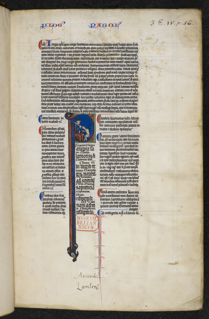 Solomon and Rehoboam from BL Royal 3 E IV, f. 1