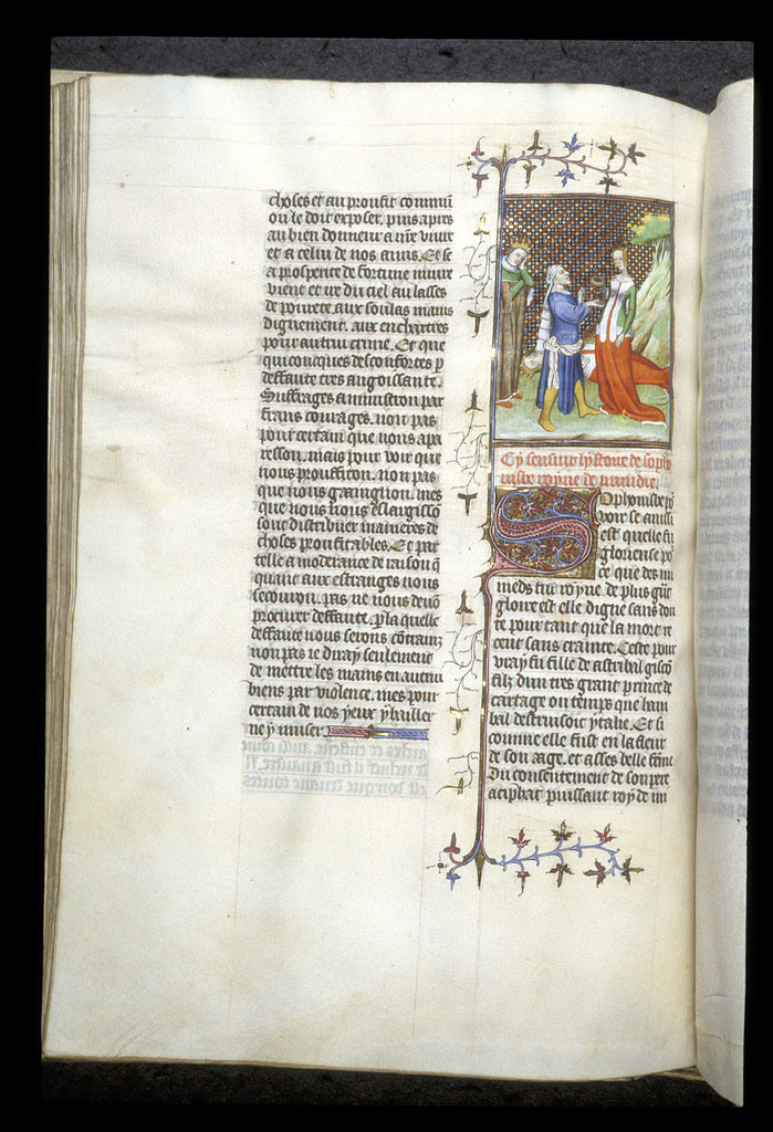 Sophonisba taking poison from BL Royal 20 C V, f. 108v