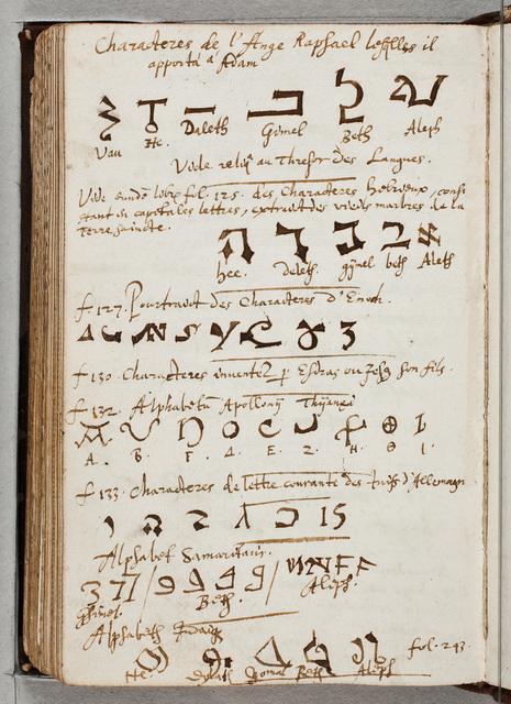 Specimina van exotische talen / door Ernst Brinck (1582-1649), gezant, burgemeester van Harderwijk, afgeschreven in zijn album amicorum