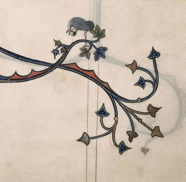 Stork from BL Royal 3 D VI, f. 3