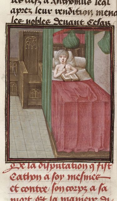Suicide of Cato from BL Royal 16 G VIII, f. 324