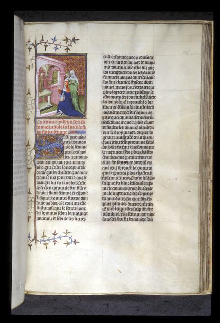 Sulpicia swinging a censer from BL Royal 20 C V, f. 105