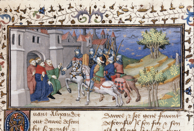 Surrender of a city from BL Royal 20 B XX, f. 34