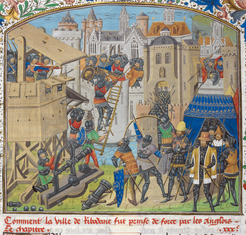 Taking of Ribodane from BL Royal 14 E IV, f. 281v