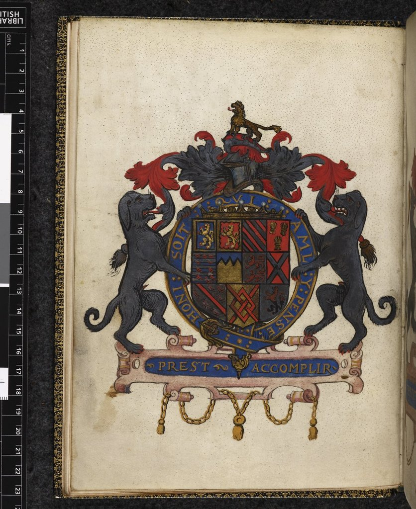 Talbot arms from BL Harley 235, f. 2v
