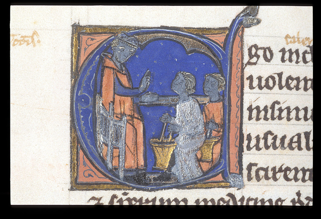Teaching from BL Harley 3140, f. 255