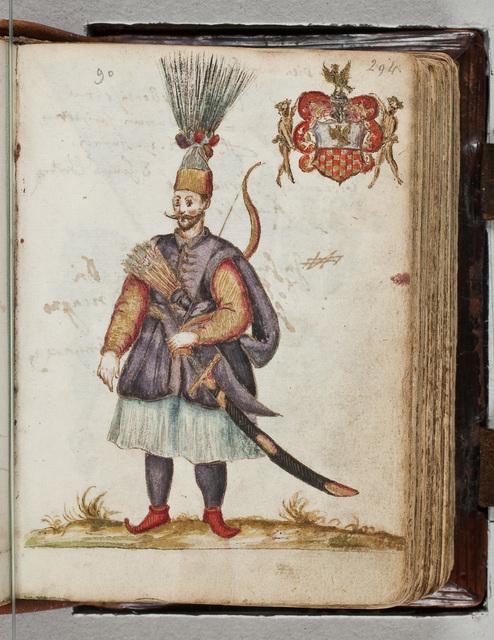 Tekening in het album / van Bernardus Paludanus (1550-1633)