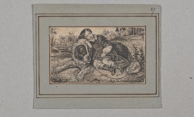 Tekening / van N.N. ('Abel 51'), in het album amicorum van Constance Henriette Payen (1840-1912)