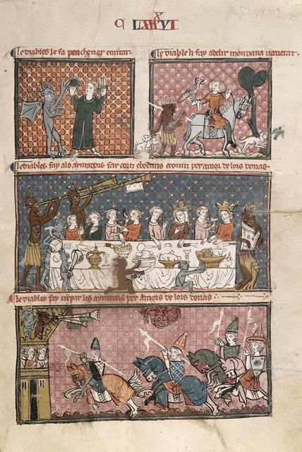 Temptations of lovers from BL Royal 19 C I, f. 204