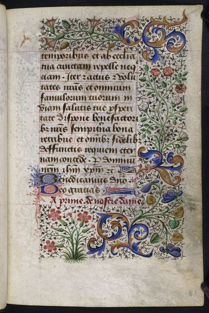 Text and borders from BL YT 3, f. 81