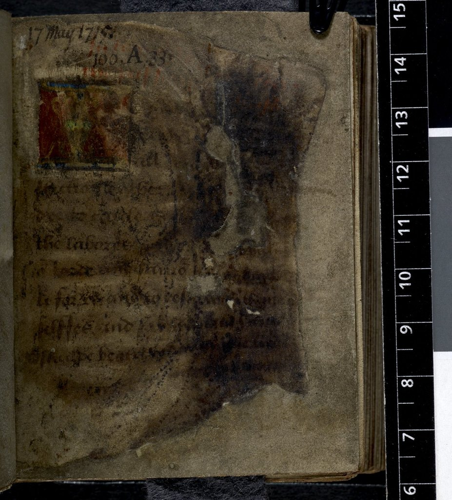 Text page from BL Harley 2342, f. 1