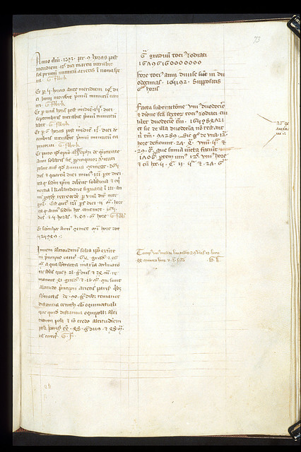 Text page from BL Harley 3735, f. 73