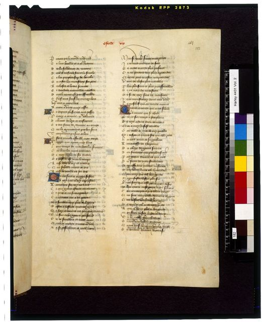 Text page from BL Harley 4431, f. 182