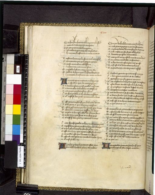 Text page from BL Harley 4431, f. 19v