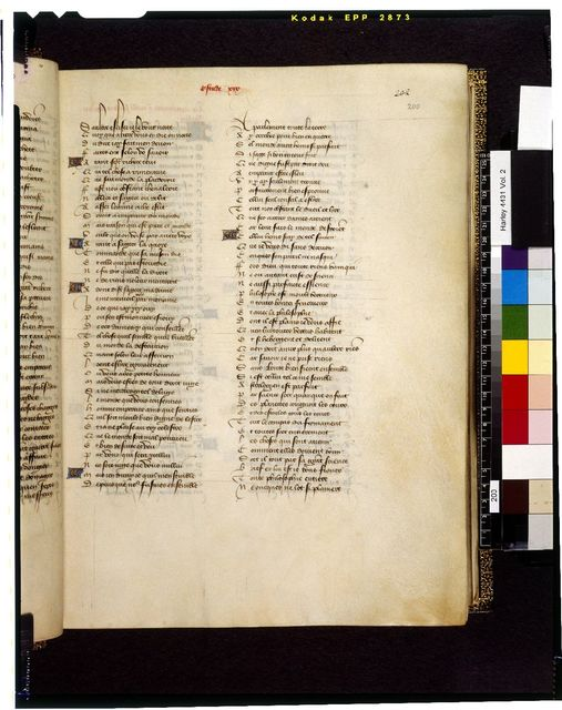 Text page from BL Harley 4431, f. 200
