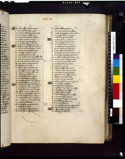 Text page from BL Harley 4431, f. 211