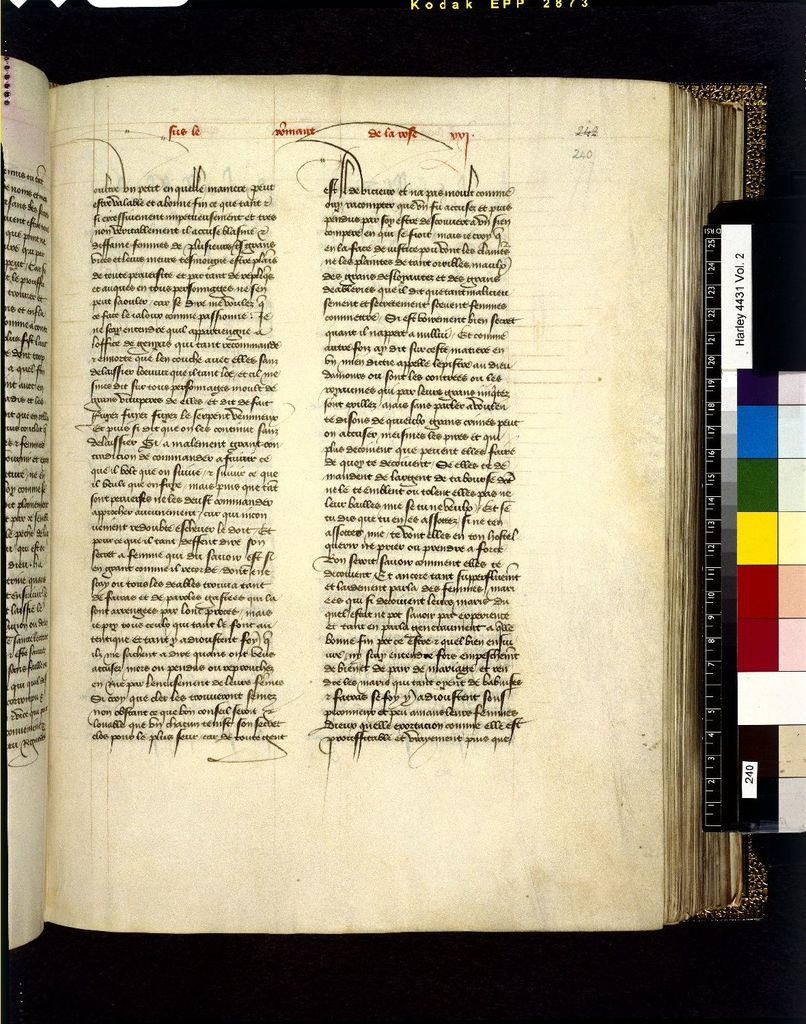Text page from BL Harley 4431, f. 240