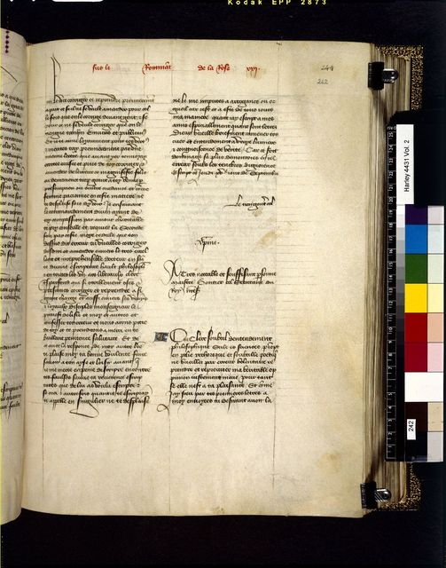 Text page from BL Harley 4431, f. 242