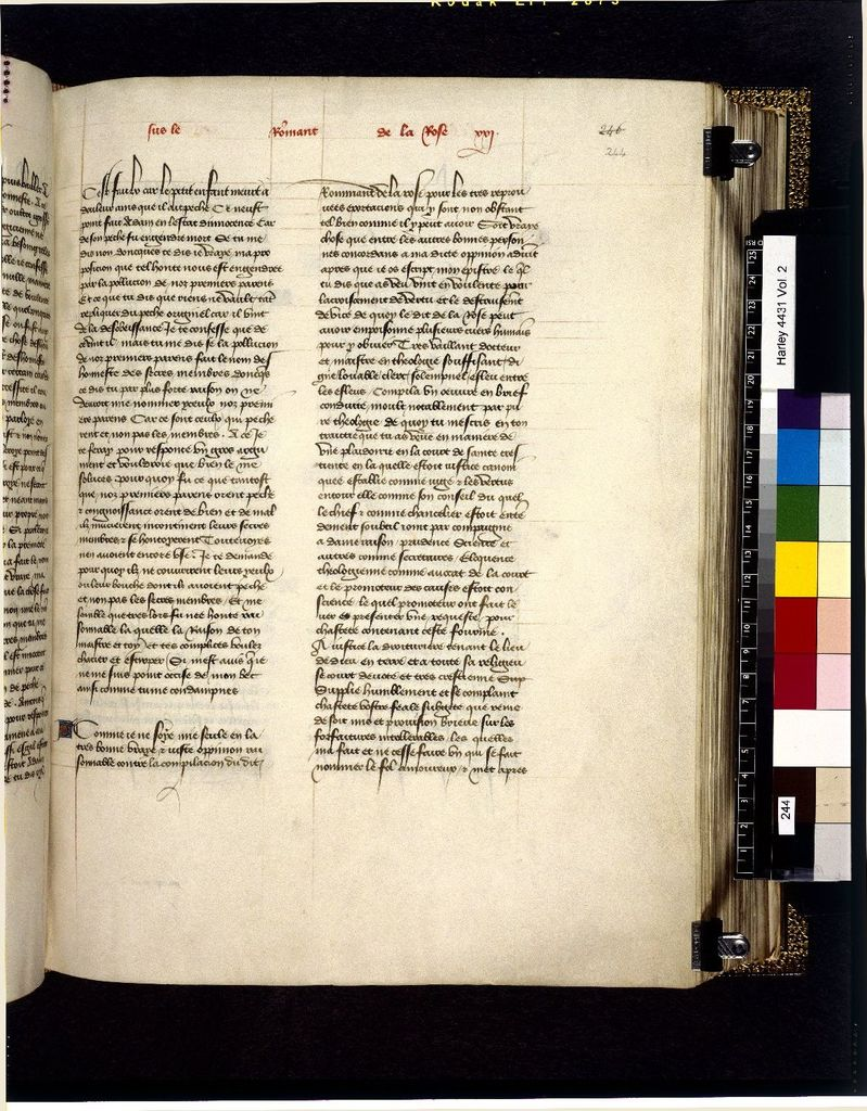 Text page from BL Harley 4431, f. 244