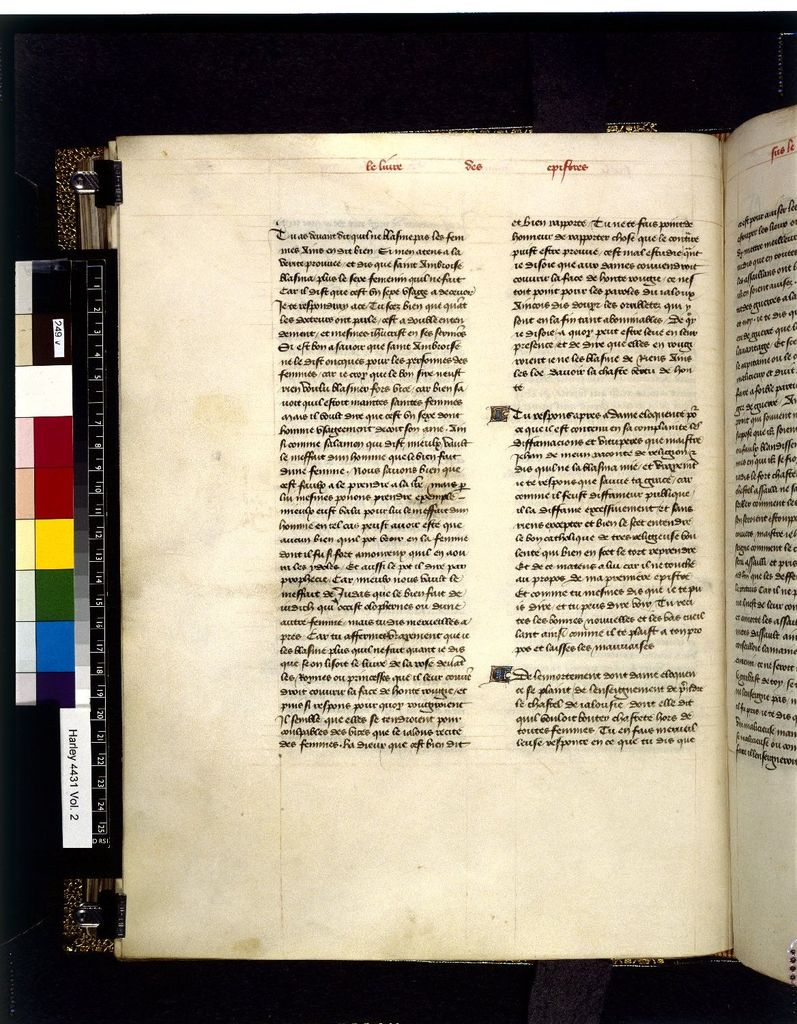 Text page from BL Harley 4431, f. 249v