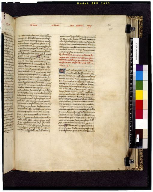 Text page from BL Harley 4431, f. 291