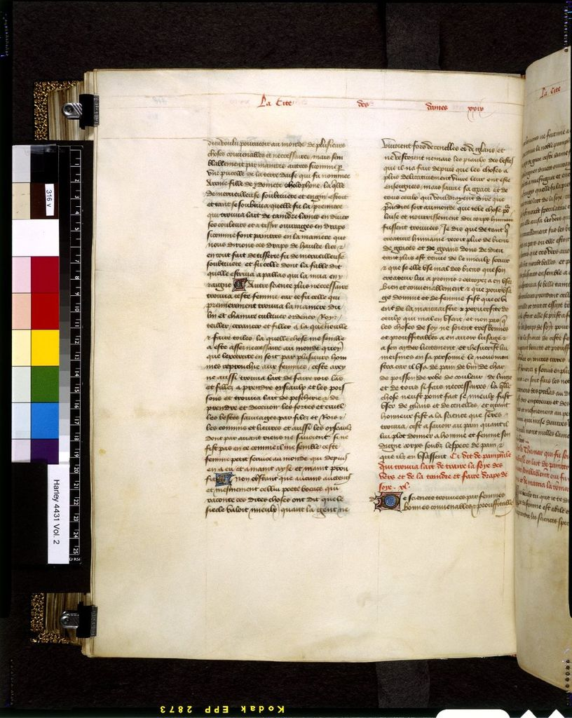 Text page from BL Harley 4431, f. 316v