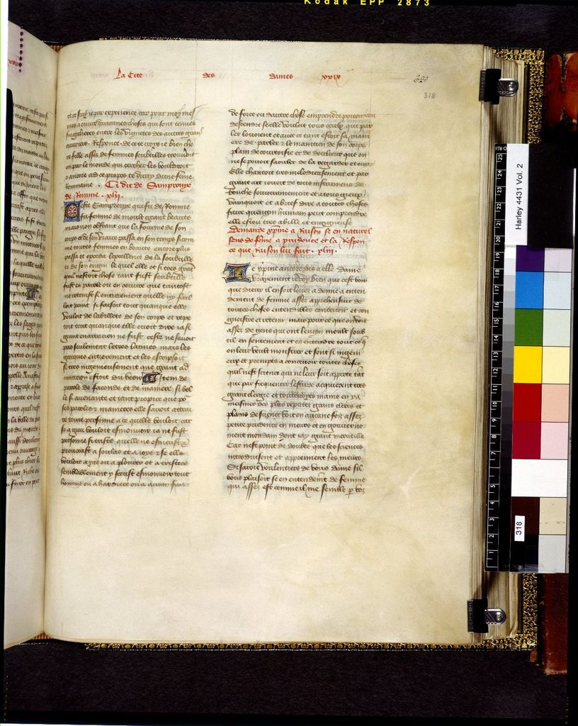 Text page from BL Harley 4431, f. 318