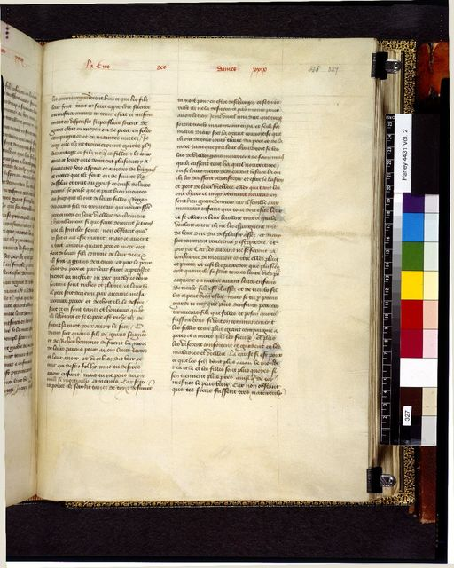 Text page from BL Harley 4431, f. 327