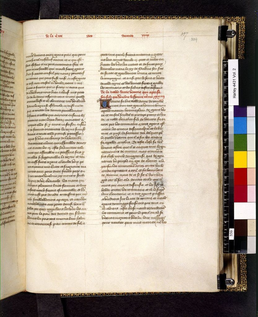 Text page from BL Harley 4431, f. 339