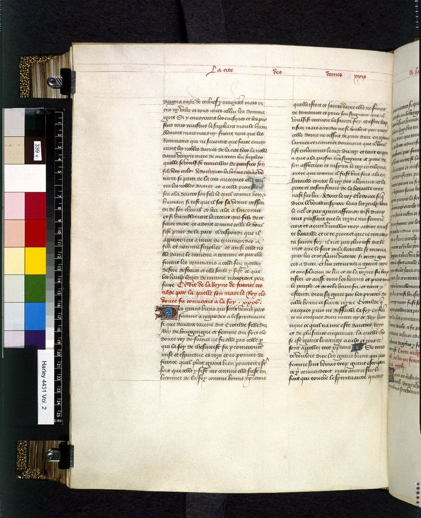 Text page from BL Harley 4431, f. 339v