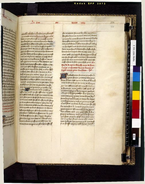 Text page from BL Harley 4431, f. 358