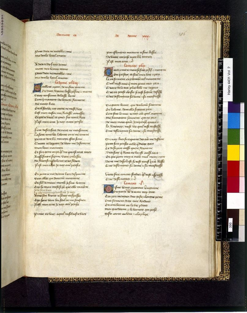 Text page from BL Harley 4431, f. 386