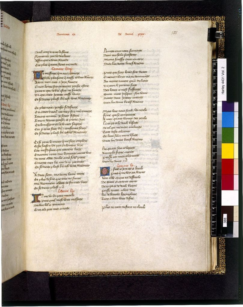Text page from BL Harley 4431, f. 388